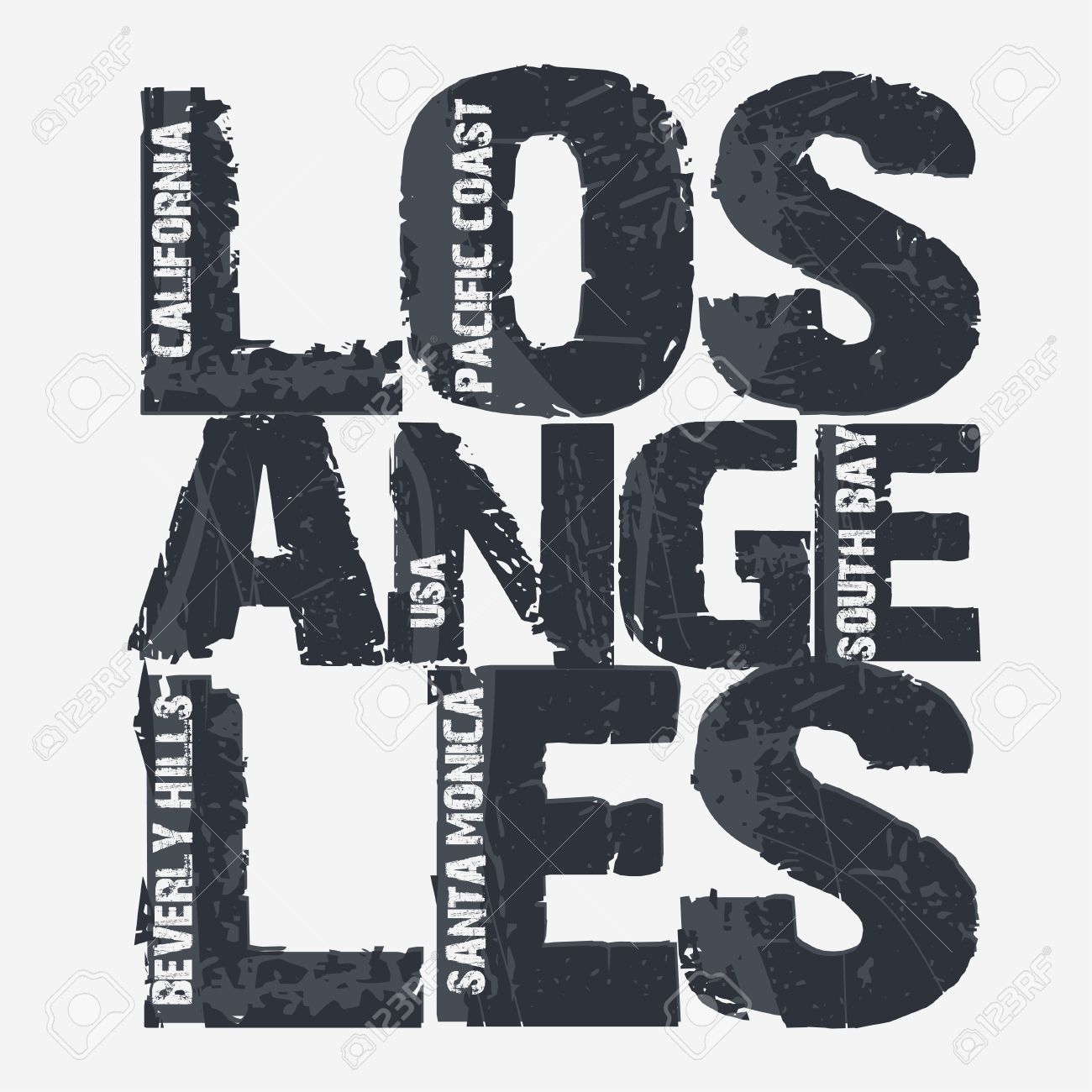 Los Angeles City Typografie Graphics Californie T Shirt Design