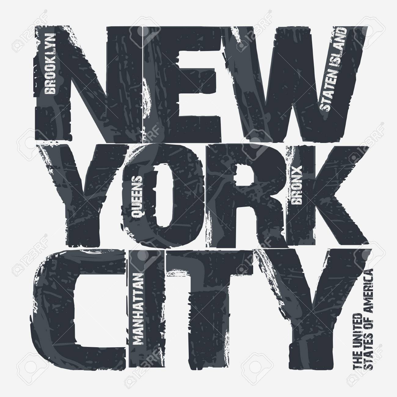 T shirt design queens ny - T Shirt Design Queens Ny New York City Typography Graphics Brooklyn T Shirt Design Vector