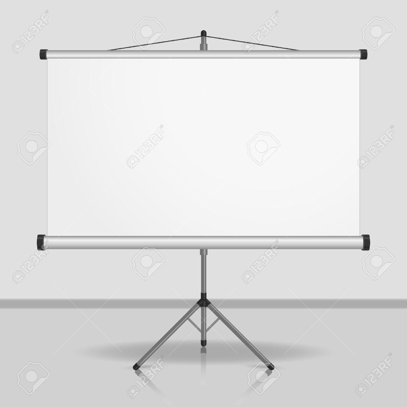 Cran De Presentation Tableau Blanc Vierge Projecteur De Trepied