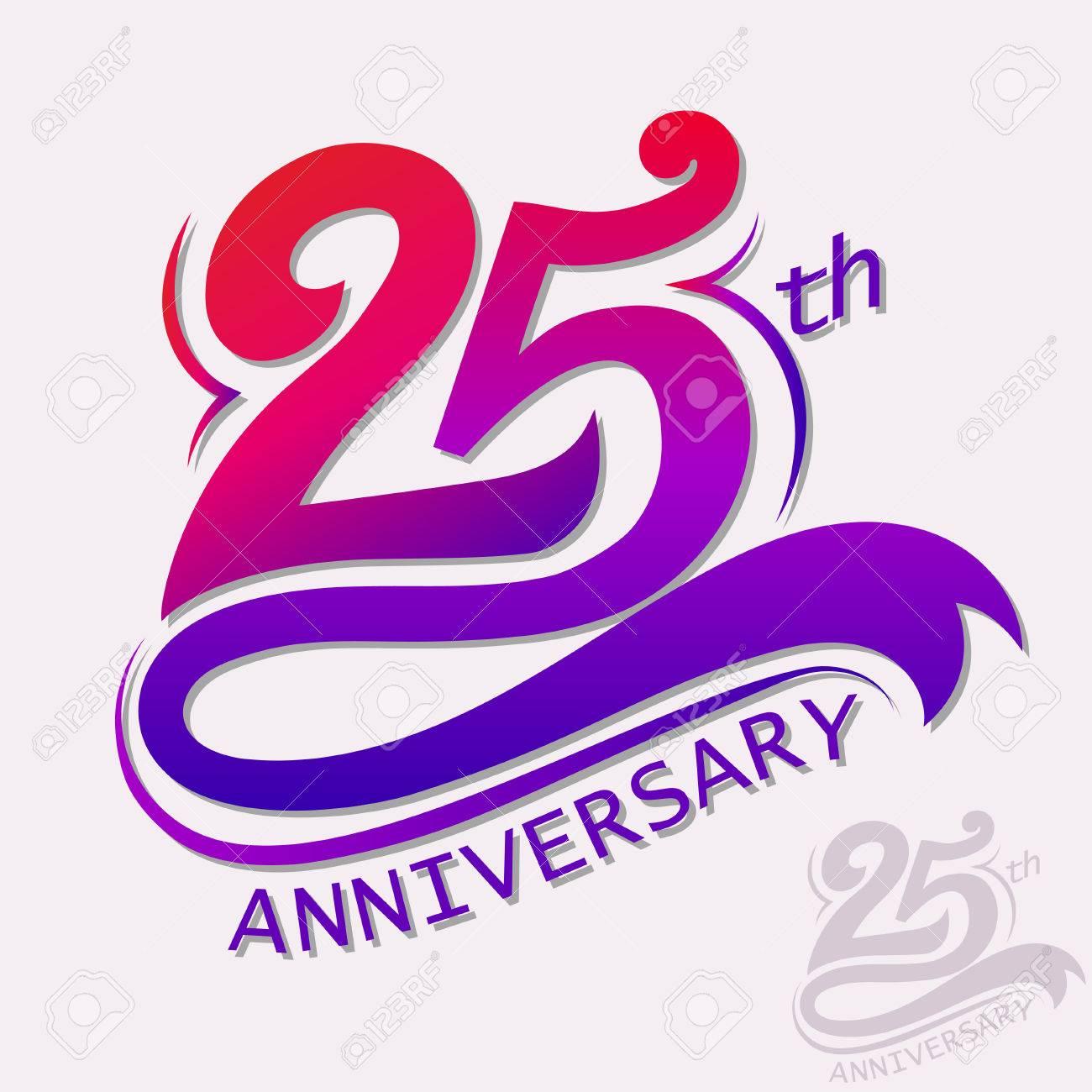 25 Years Anniversary Design Signe De Celebration Modele