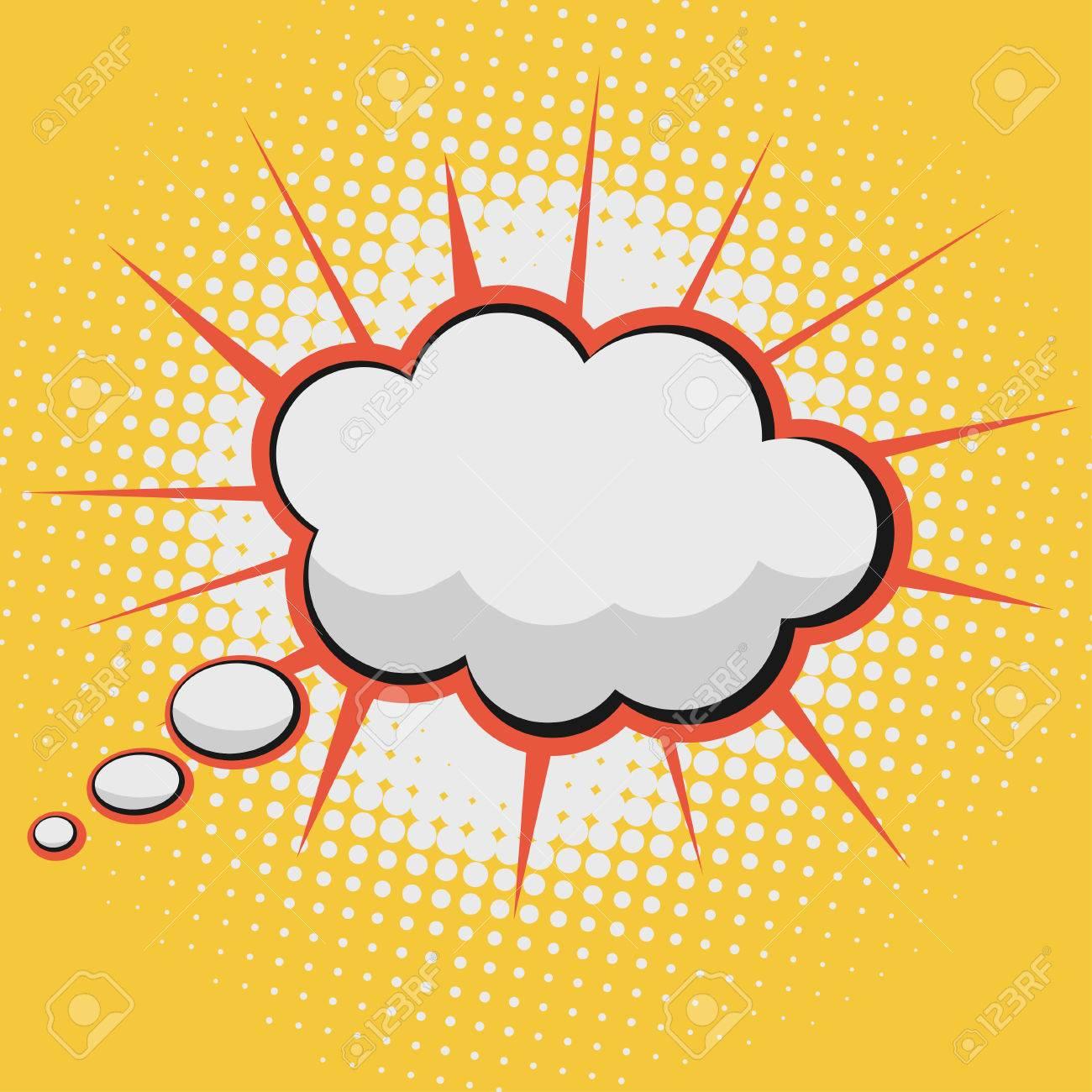 Nube De Texto Cómico De La Burbuja Libro Sobre Un Fondo Patrón De ...