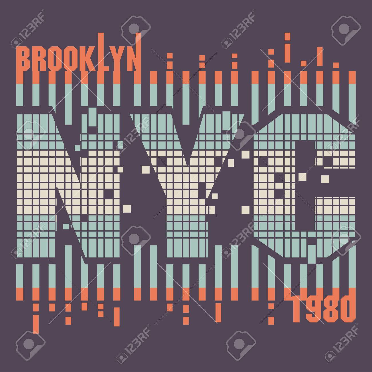 Design a t shirt nyc - New York City Typography Graphics Retro Style Brooklyn T Shirt Design Vector Stock