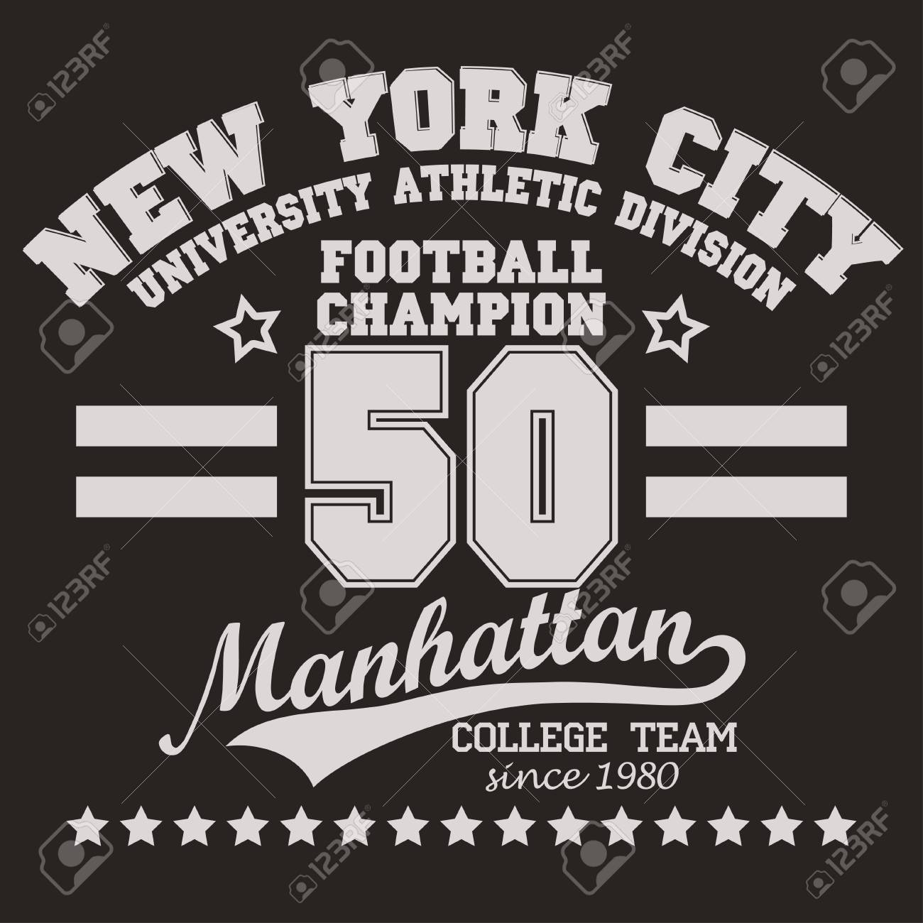 New York Manhattan Football Sport Wear Typography Emblem b35bf59f7