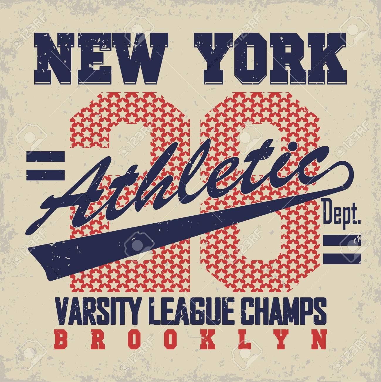 New York Brooklyn Sport Wear Typography Emblem 2bbfbdba2