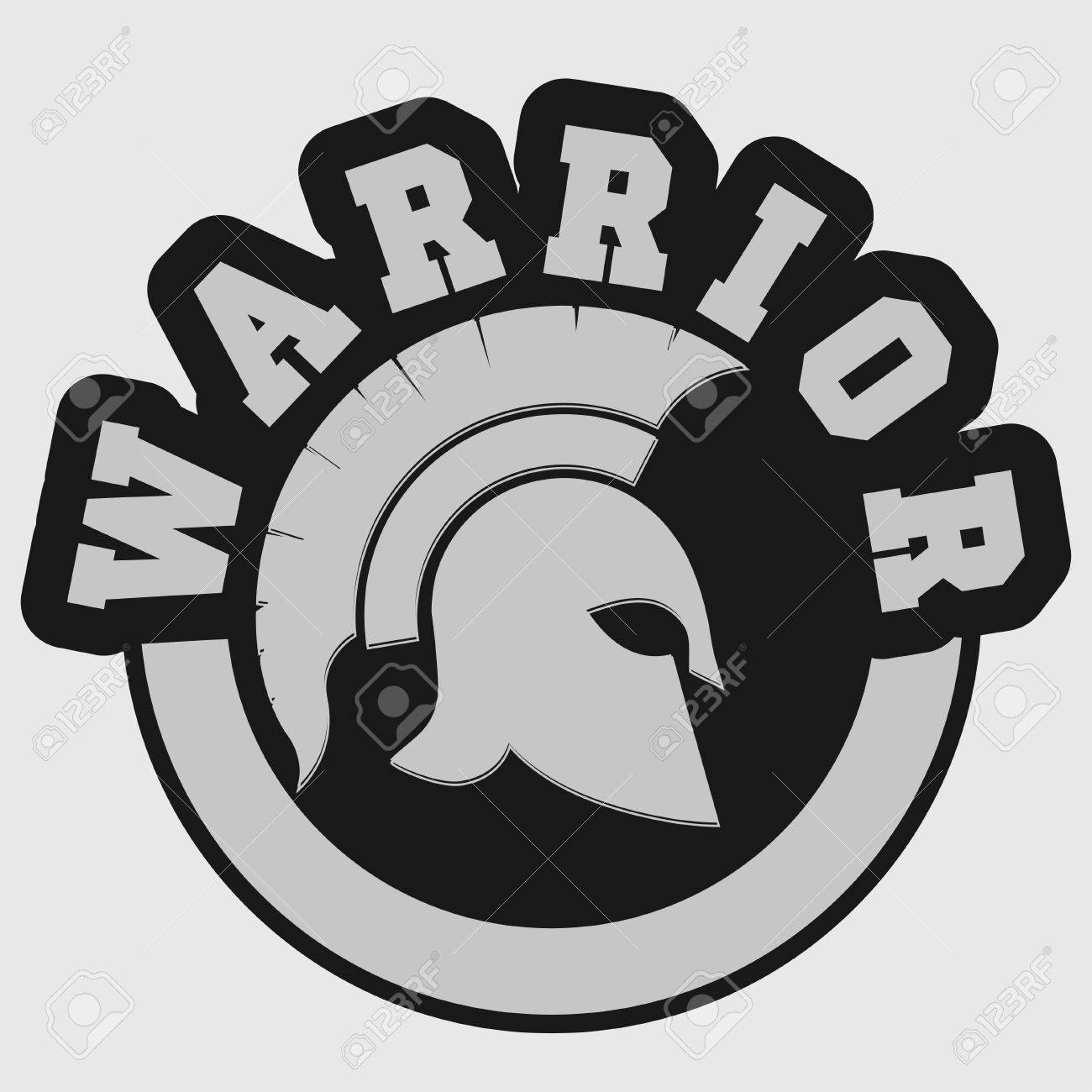 Spartan Warrior T Shirt Emblem Greek Helmet Silhouette Print