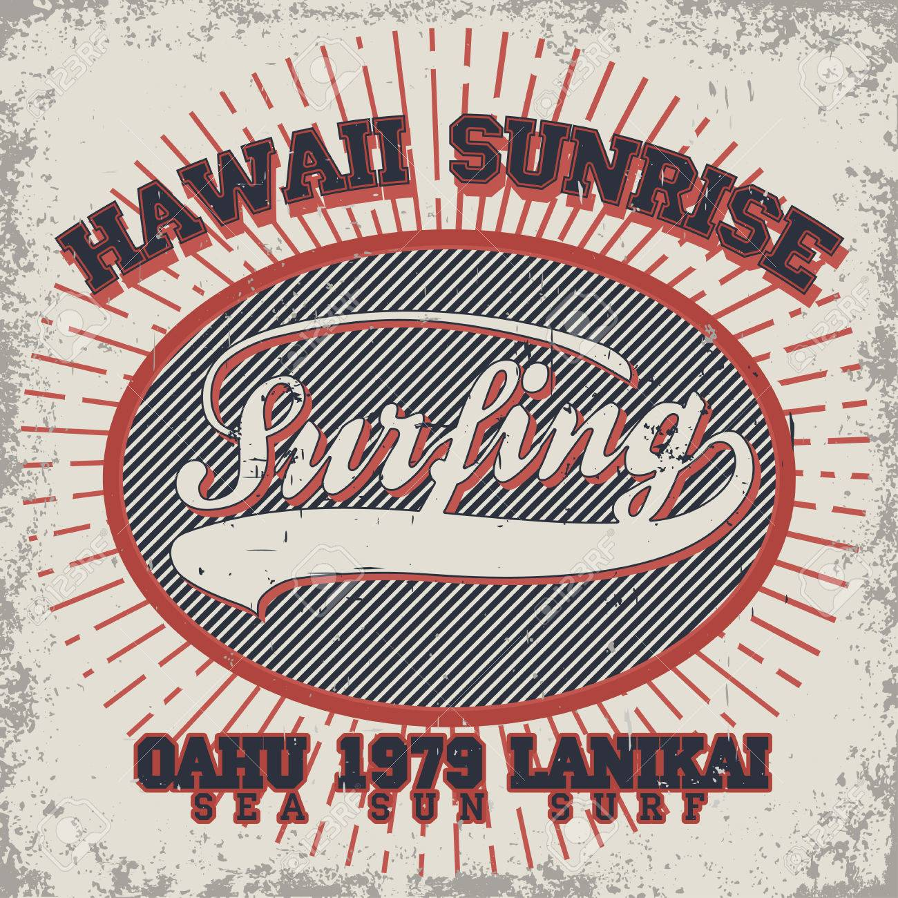 7884cf72 Surfing t-shirt graphic design. Hawaii surfing. Surfers wear typography  emblem. Creative