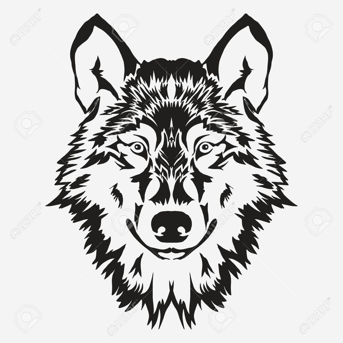 Wolf bolt Emblem, mascot head silhouette, sport logotype. Template for business or t-shirt design. Vector - 69507806