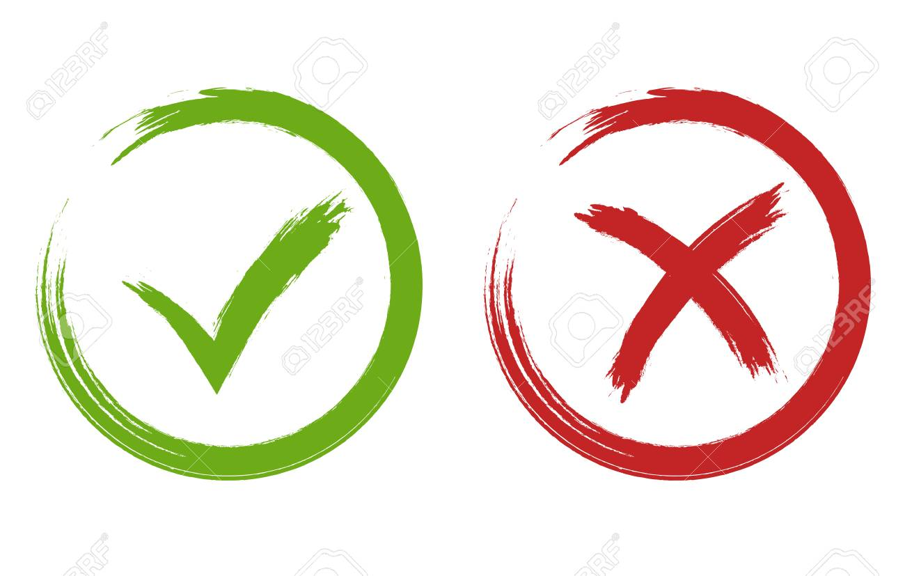 tick and cross signs green and red checkmark vector royalty free rh 123rf com check mark vector icon check mark vector image