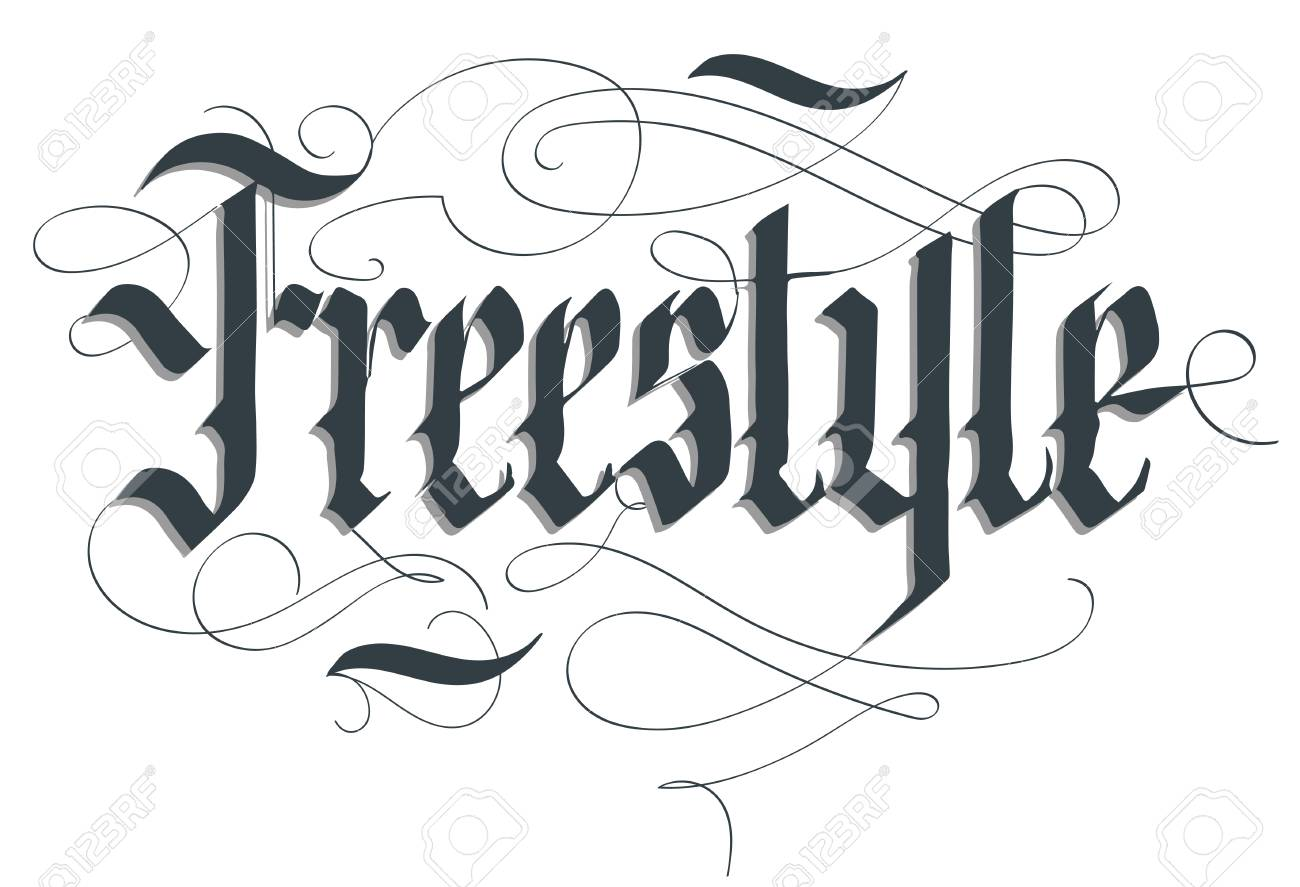 Freestyle Lettering Typography Emblem Extreme Sport T Shirt Bmx Skateboard Rider Print