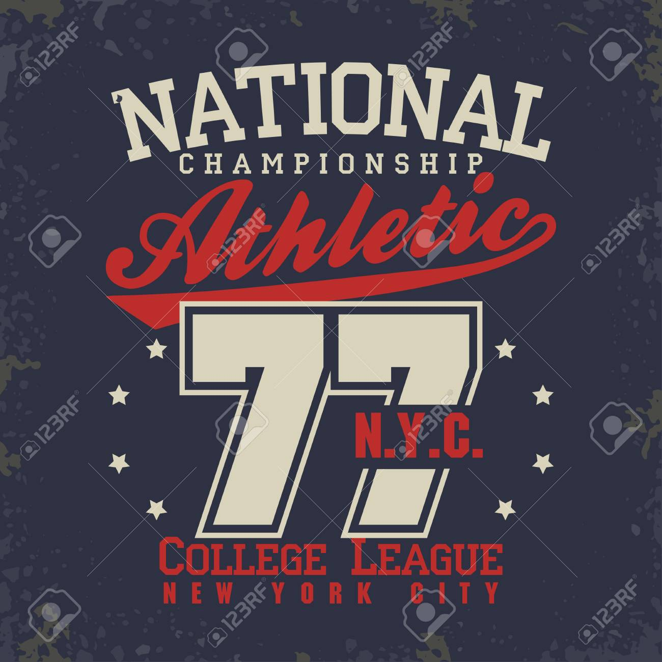 413ad2743 T-shirt stamp graphics, New York College Sport wear typography emblem, tee  print