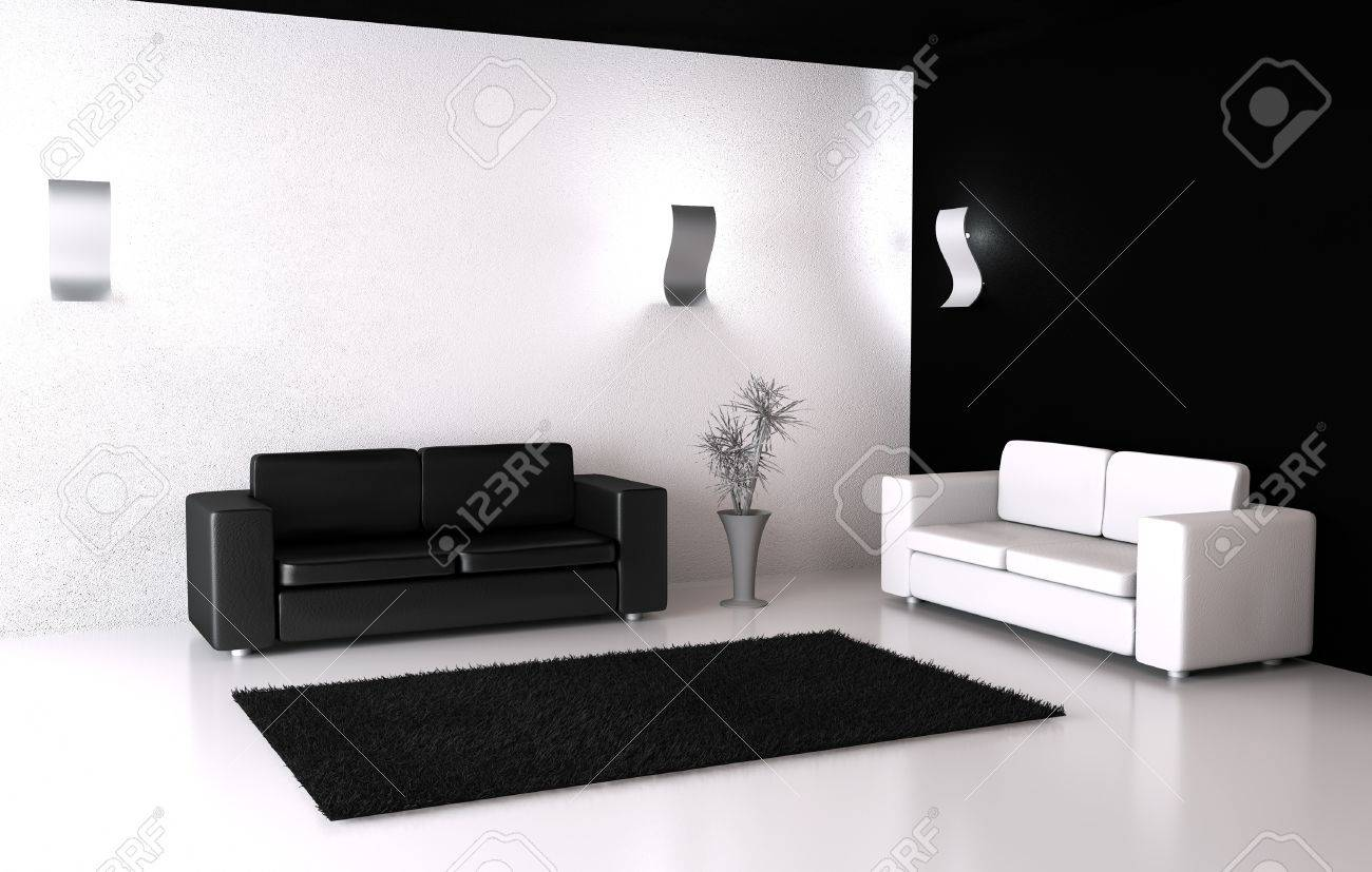 room with opposite colors stock photo picture and royalty free