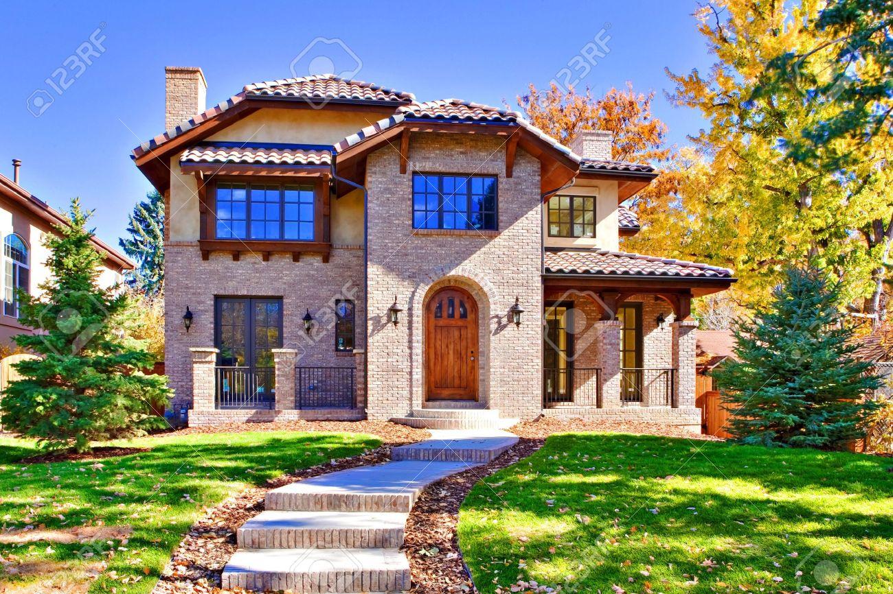 toutes les briques, la maison de deux étages de luxe, à denver, au