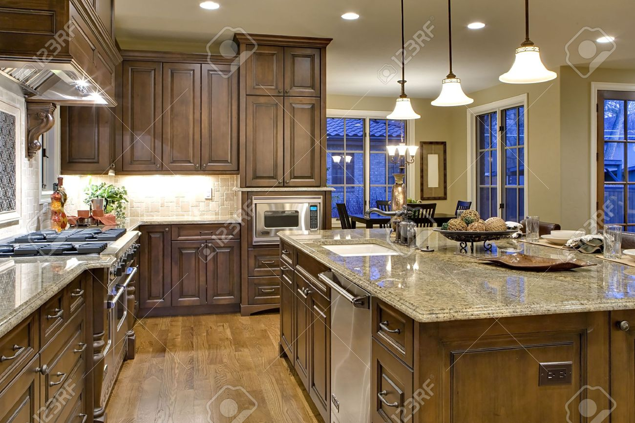 Kitchen From Butler S Pantry Perspective Shows Cooking Island