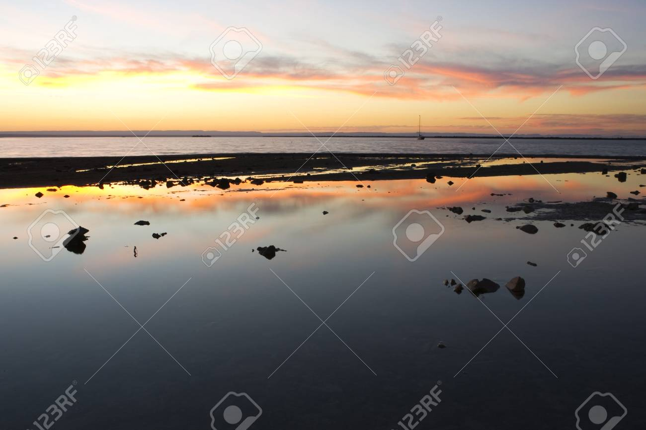 premium selection 3a3b0 f26c0 Stock Photo - Sunset on the Sea of Cortez in Baja California Sur, Mexico.