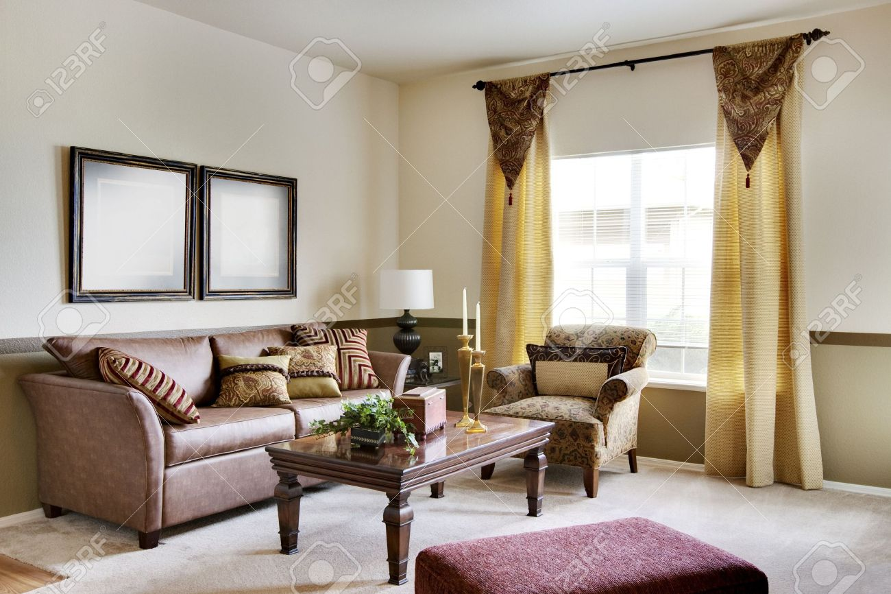 Cozy Apartment Living Room cozy apartment living room with sofas stock photo, picture and