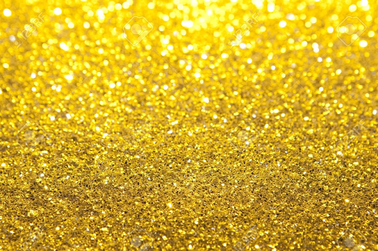 Gold Glitter Selective Focus Banque d'images - 5734192