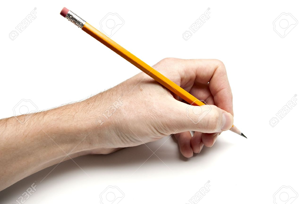 left hand writing with pencil stock photo picture and royalty free