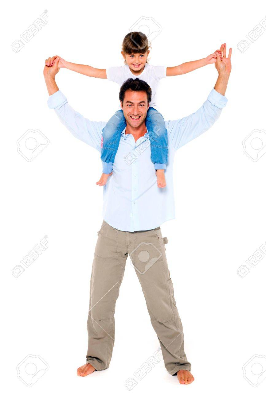 father with daughter on shoulders Stock Photo - 11066436