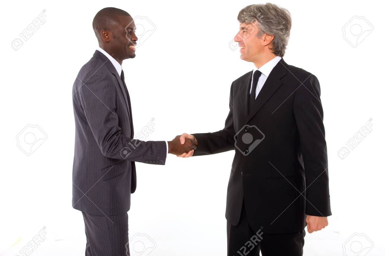 businessmen shaking hands Stock Photo - 11558759