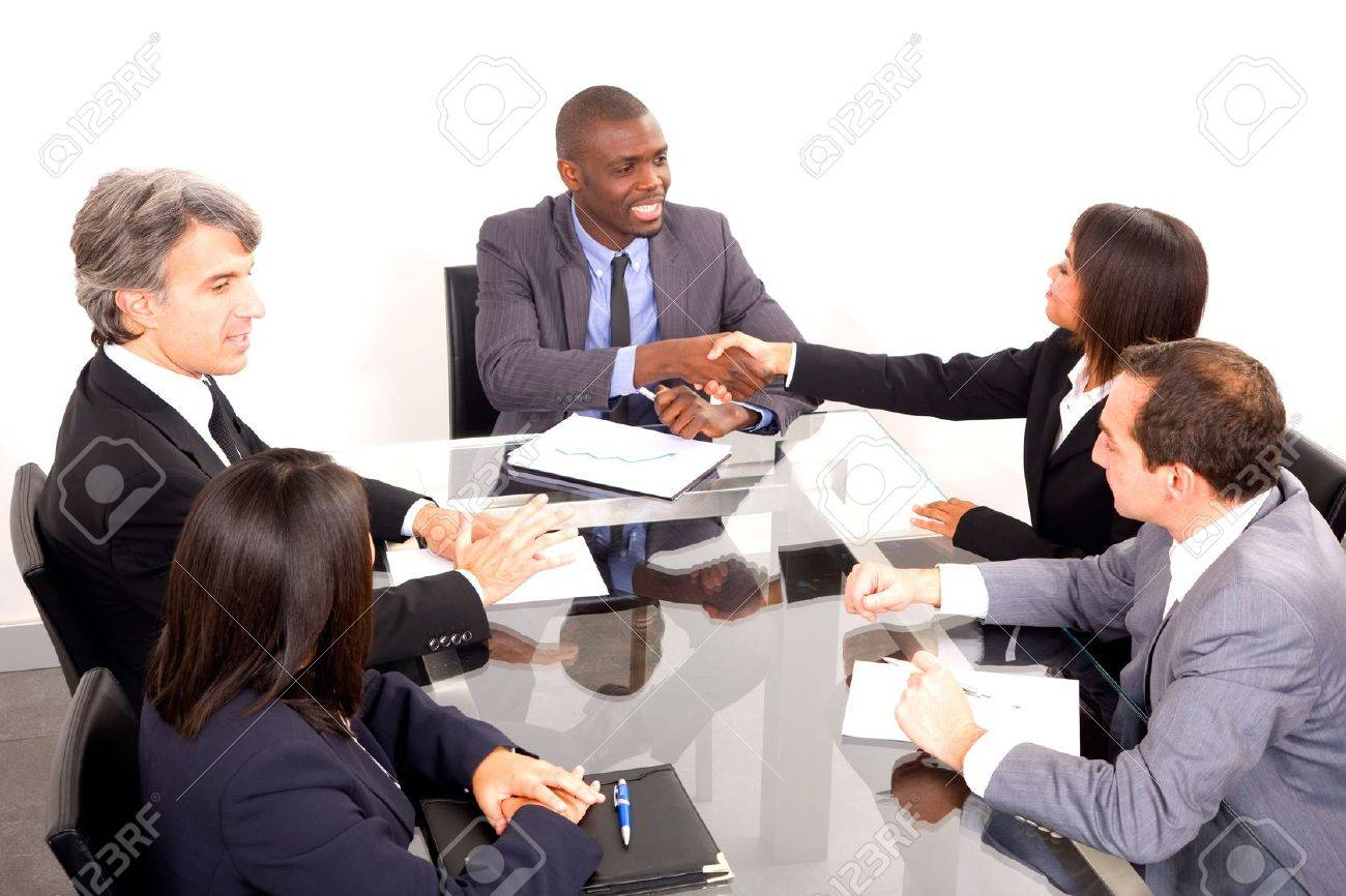 multi-ethnic team during a meeting Stock Photo - 11558860