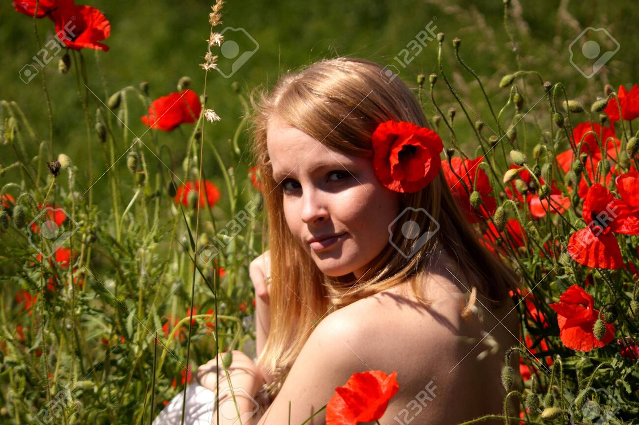 Girl and flowers Stock Photo - 4989190