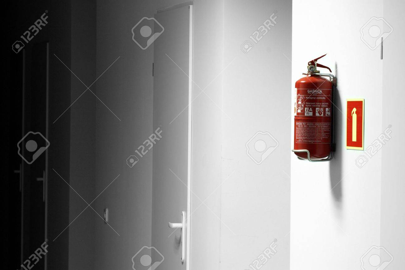 Fire extinguisher in workplace Stock Photo - 6676443