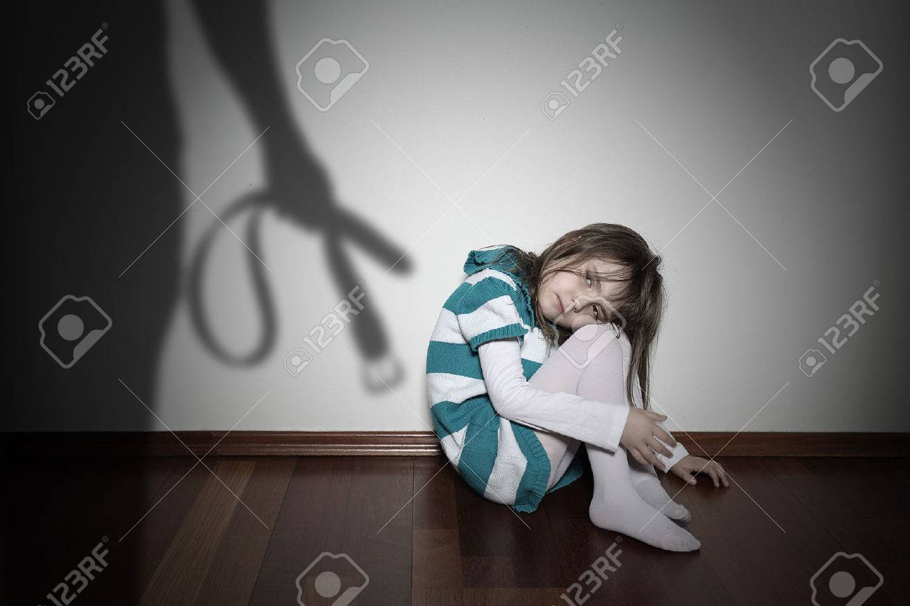 Domestic violence - sad lonely youth girl - 35637213