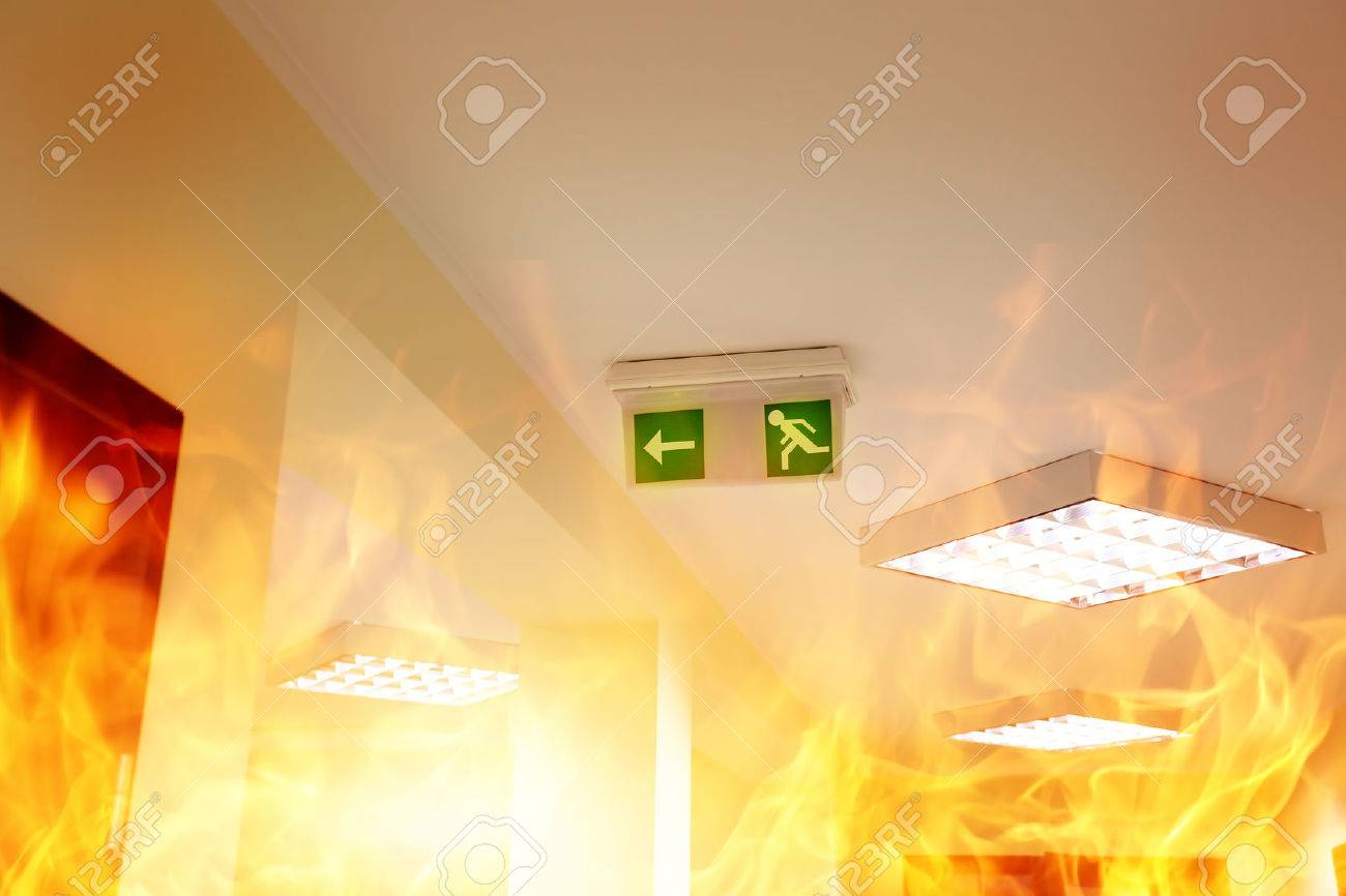 Fire in the building - 36324692