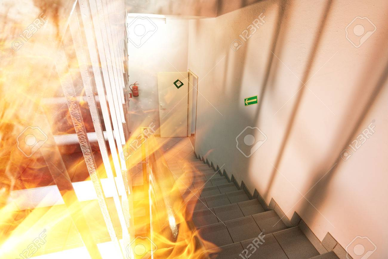 A major fire in a modern building - 36324699