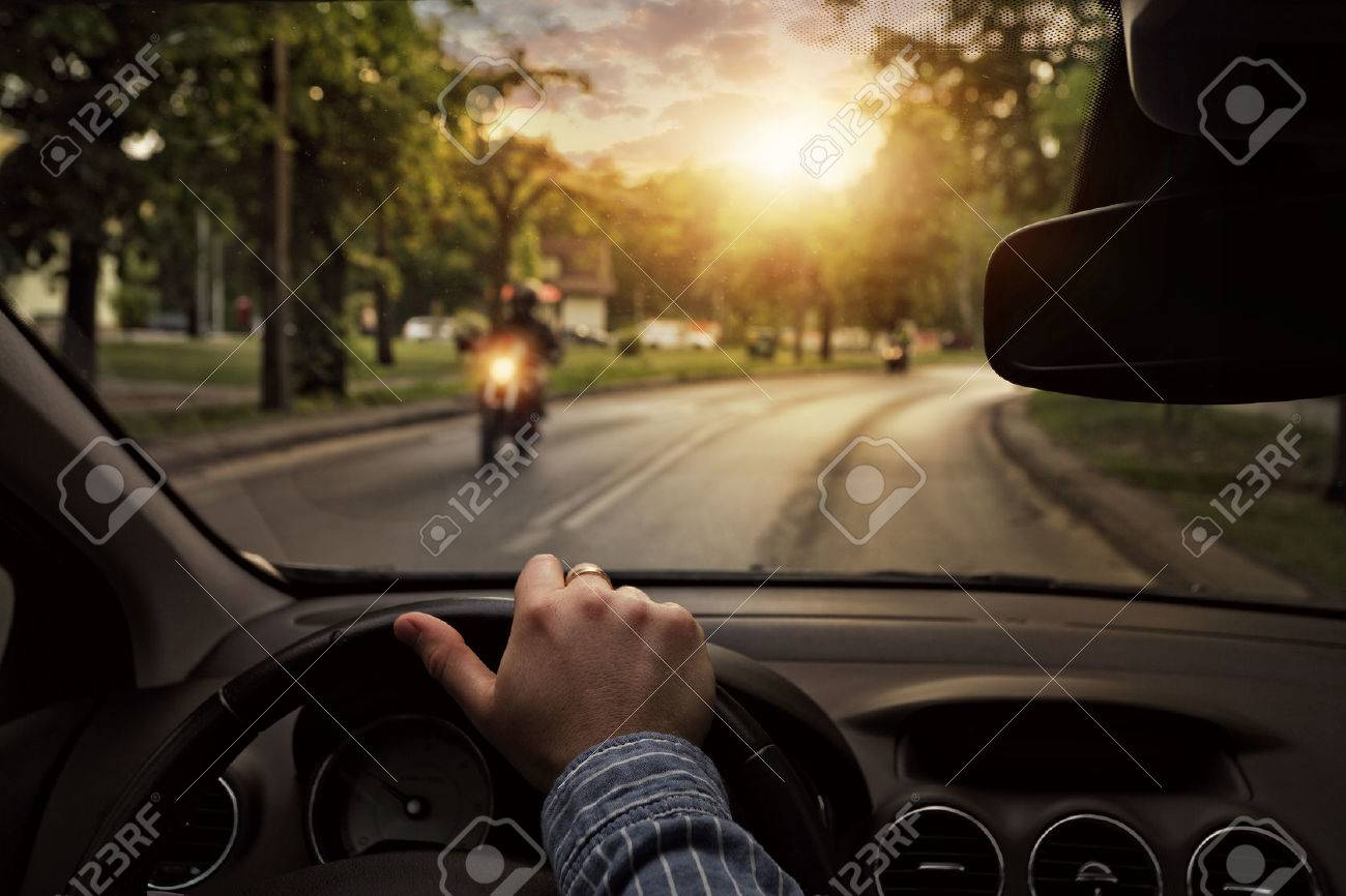 Driving the car around town - 45220737