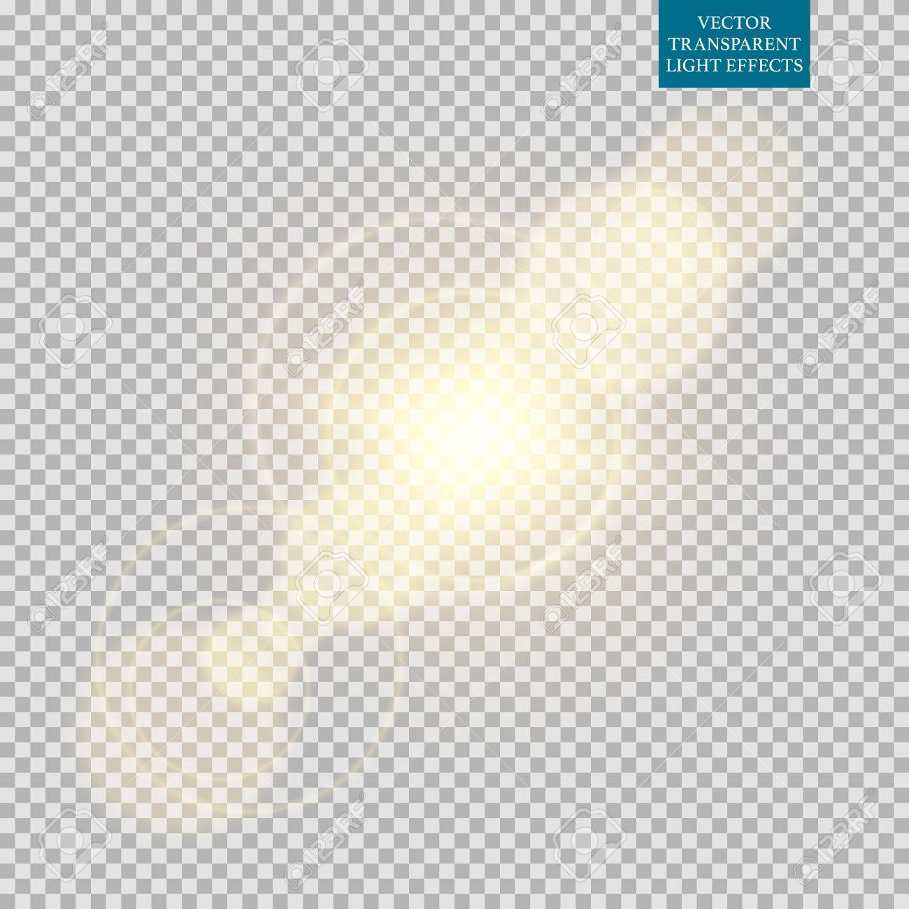 Abstract image of lighting flare set. - 54971365