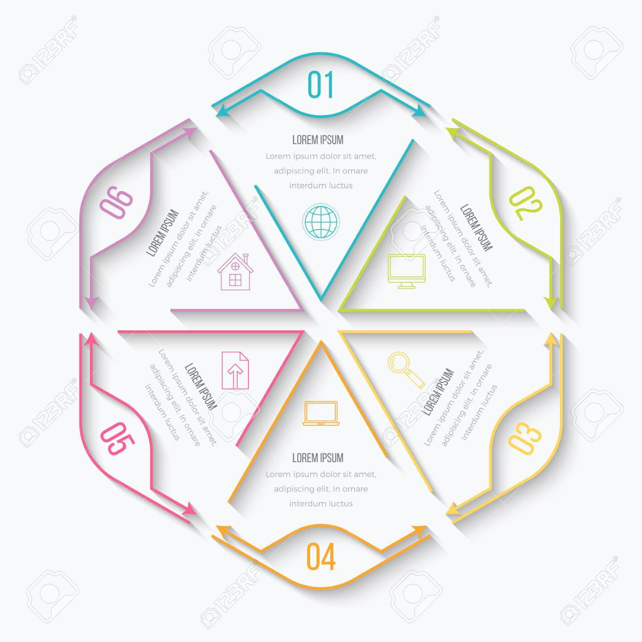 Dünne Linie Infografik-Element. Linear Flache Diagramm, Diagramm ...
