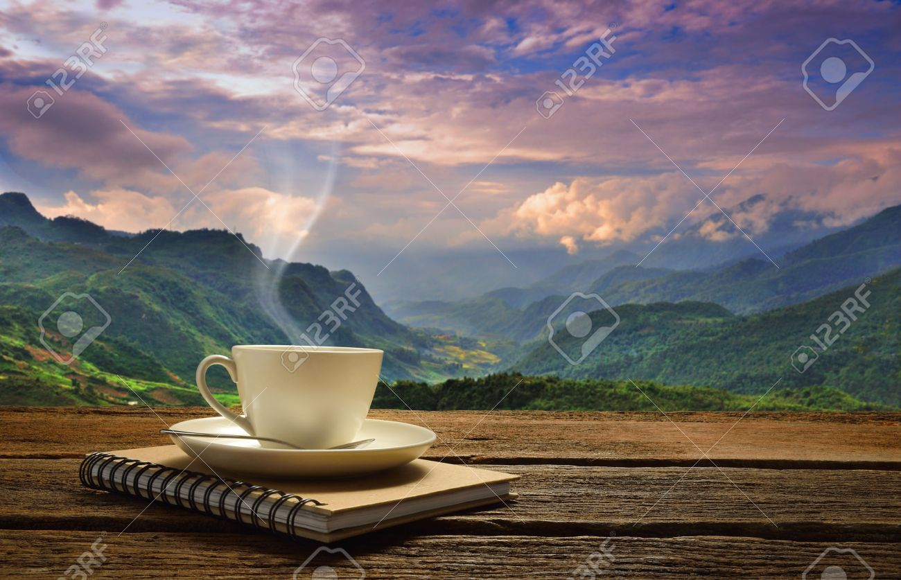 Tea Cup Sacking On Wooden Table Stock Photo 400972204 - Shutterstock
