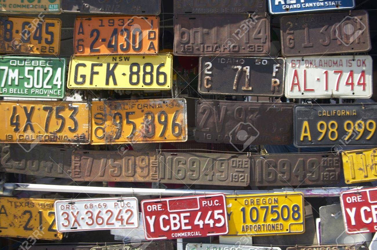 Vintage Old License Plates In Idaho Stock Photo, Picture And Royalty ...