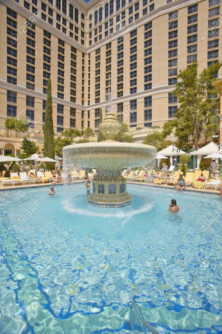 Large Swimming Pool With Swimmers At Bellagio Casino In Las Vegas Stock Photo Picture And Royalty Free Image Image 19962455