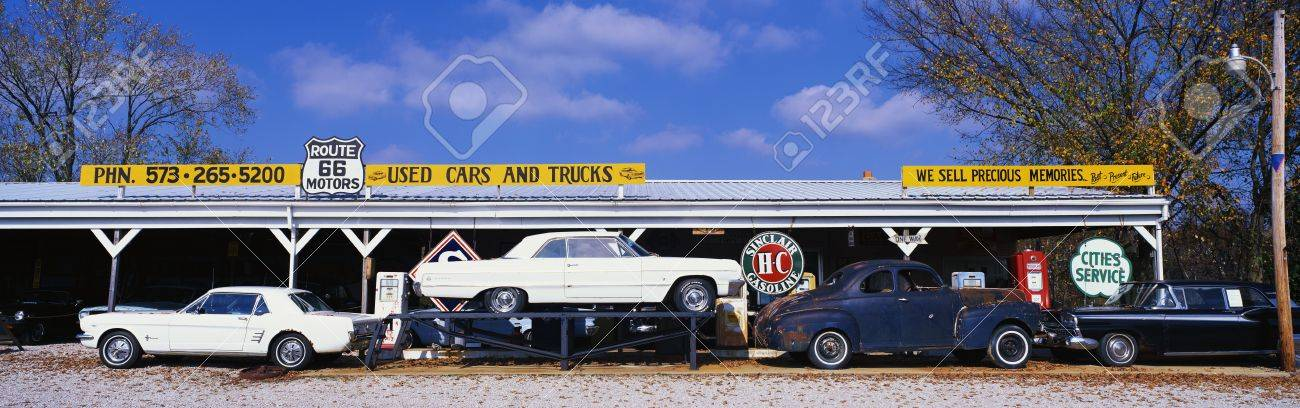 This Is A Vintage Used Car Dealer Along Route 44. It Is The Former ...
