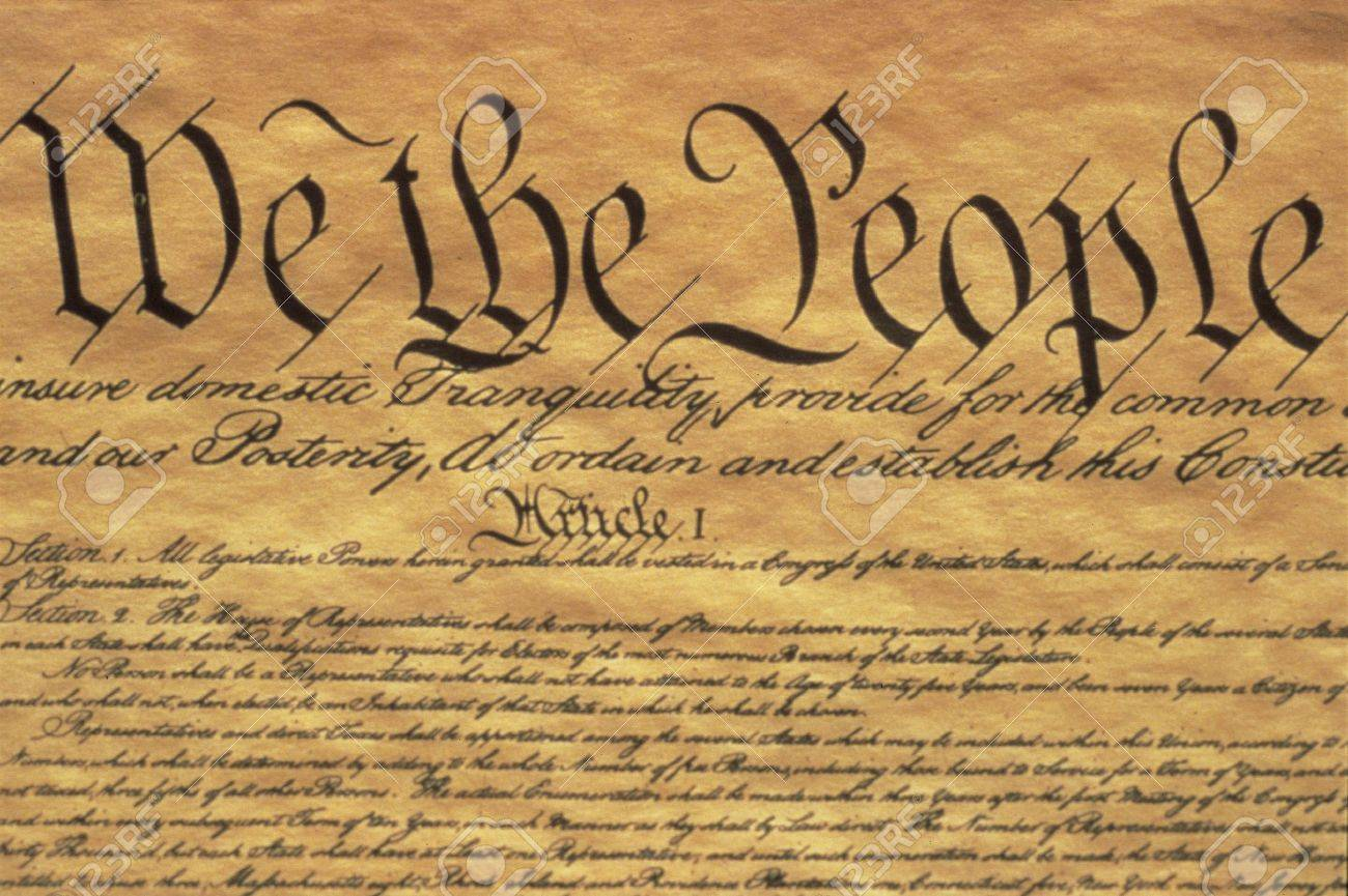This Is The Preamble To The U.S. Constitution. It Starts With ...