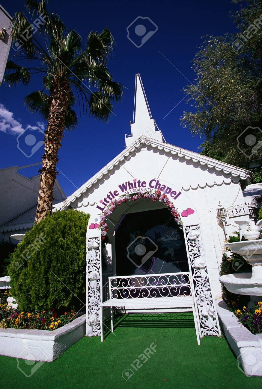 Little White Wedding Chapel.This Is The Little White Wedding Chapel Where People Can Get