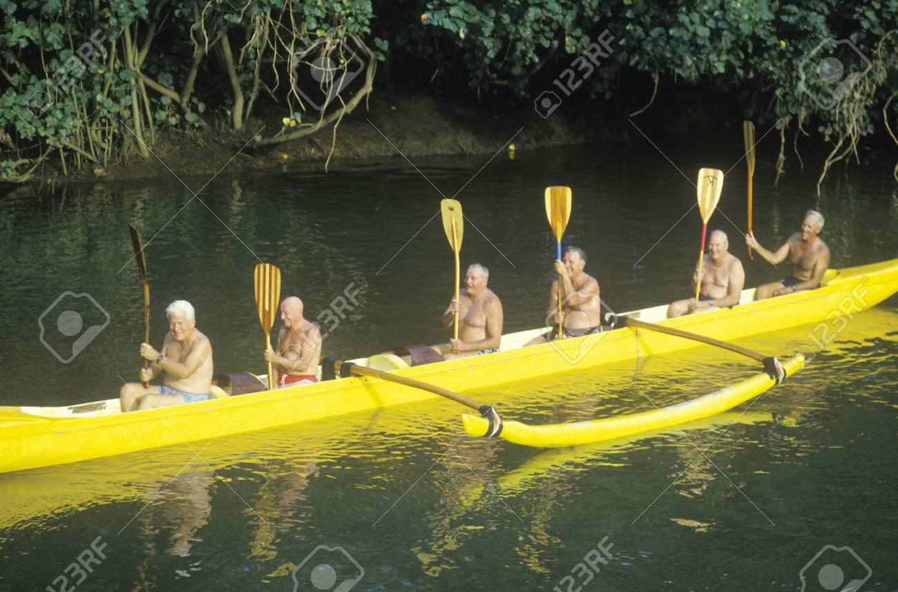 Kayak in River, Kauai, HI