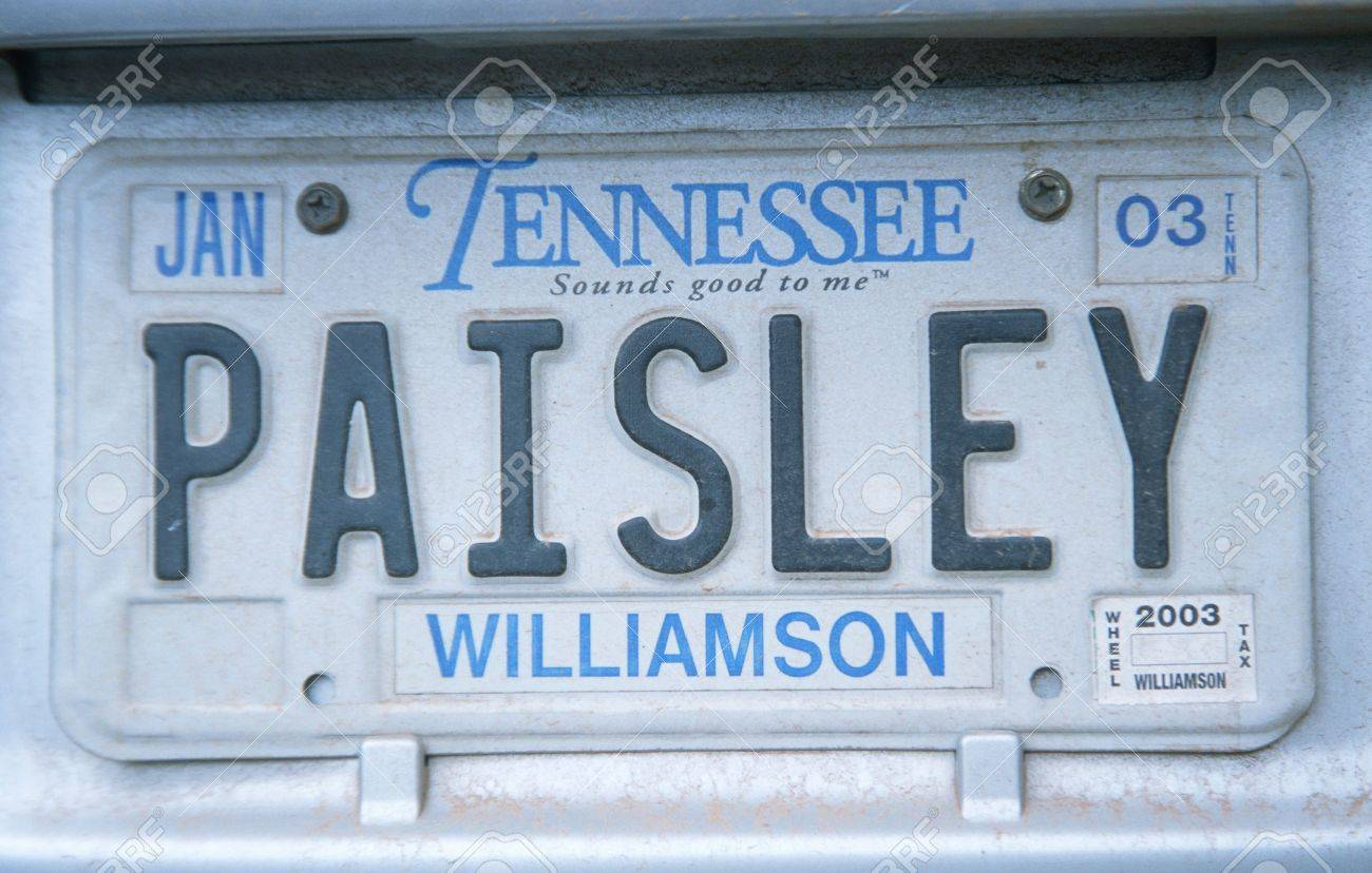 Vanity License Plate - Tennessee Stock Photo, Picture And Royalty ...