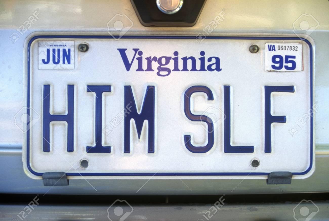 Vanity License Plate - Virginia Stock Photo - 20515198