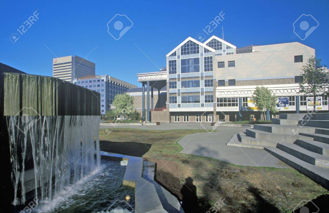 Anchorage Center for the Performing Arts, Anchorage, Alaska Stock Photo - 20491059