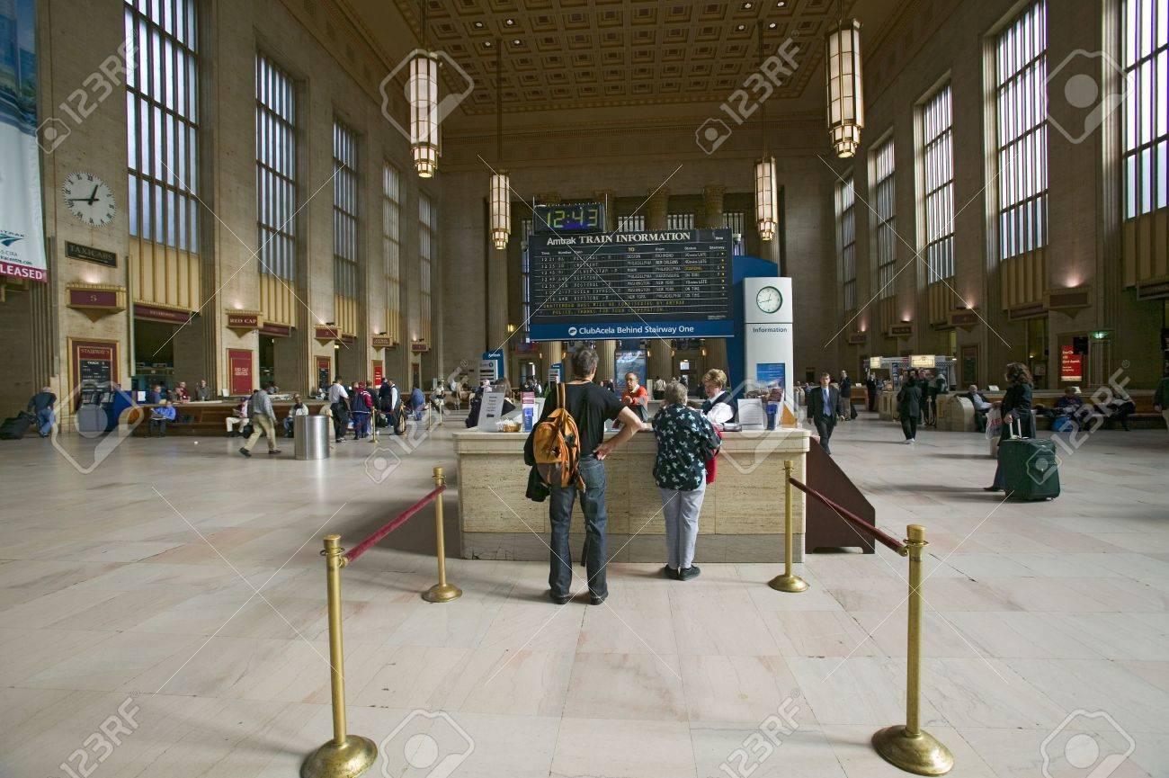 30 丁目駅とチケット ブース、国立登録史跡に、フィラデルフィア、PA ...
