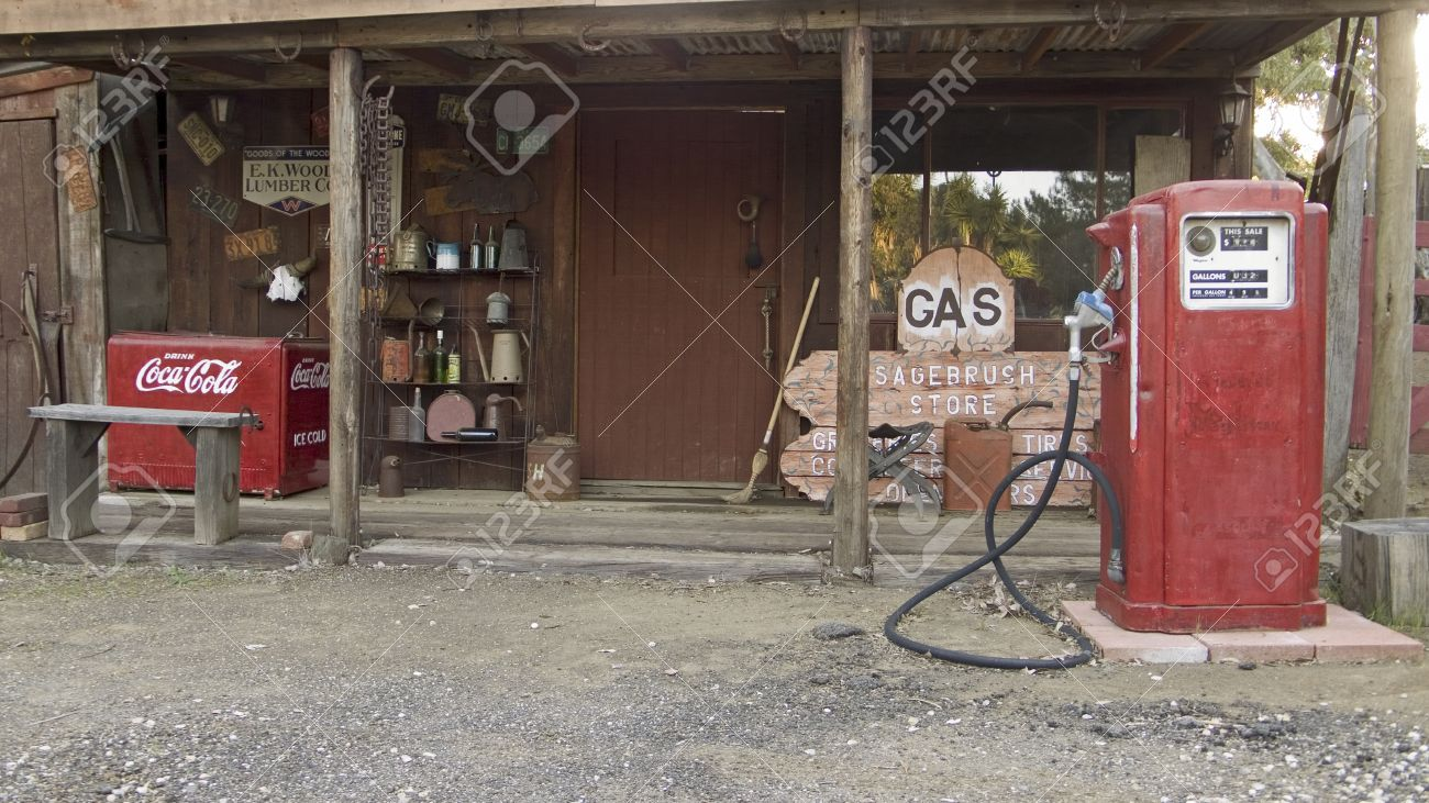 Antique Red Gas Pumps In Front Of Old Gas Station In Malibu Stock Photo Picture And Royalty Free Image Image 20512016