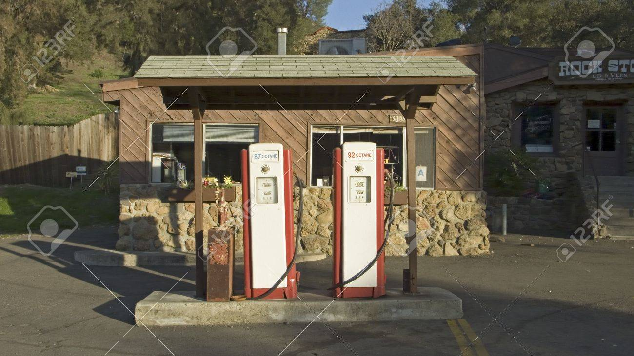 Antique Red Gas Pumps In Front Of Old Gas Station In Malibu Stock Photo Picture And Royalty Free Image Image 20492772