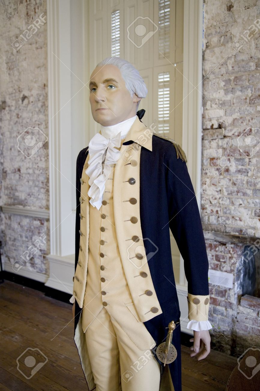 A Mannequin Of General George Washington As He Appeared In 18th ...