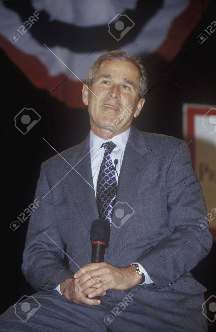 George W Bush Addressing The New Hampshire Presidential Candidates