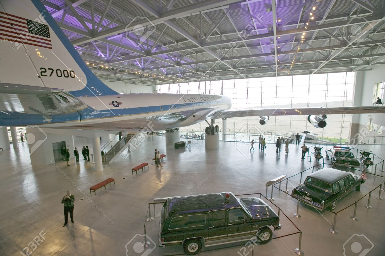 Inside the Air Force One Pavilion at