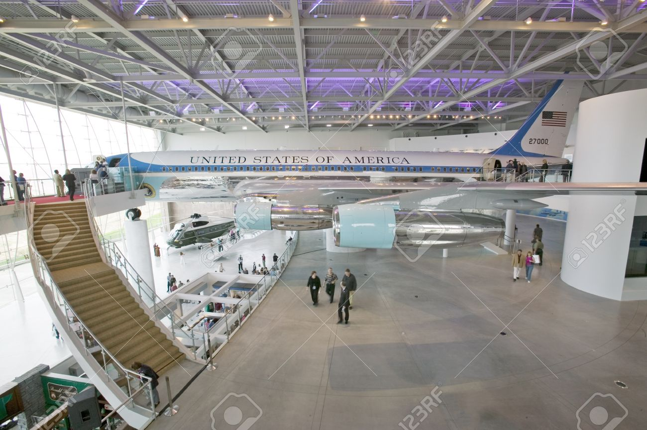 Inside The Air Force One Pavilion At The Ronald Reagan Presidential
