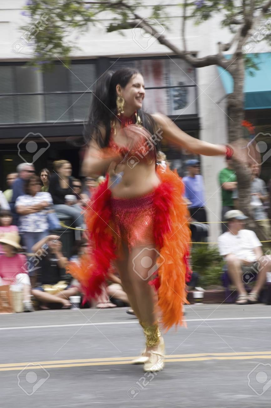 5f035822801 Dancer At Annual Summer Solstice Celebration And Parade June.. Stock ...